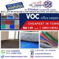 VOC OFFICE CARPET JUST STARTING 1.49 SQFT CHEAPEST IN TOWN  KARPET PEJABAT MURAH