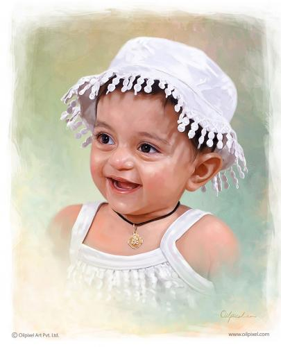 Kids Portraits - Digital Portrait Painting Service by Oilpixel
