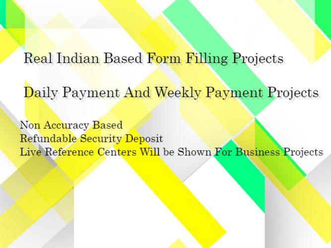 Daily Payment Form Filling Jobs Direct Account Payment