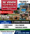Se vende Casa & Warehouse 2 en 1 de 720 Pies